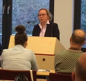Grußwort der Präsidentin des Landgerichts Bonn Gräfin von Schwerin Foto: DJG NRW